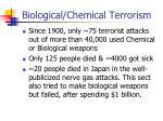 biological chemical terrorism