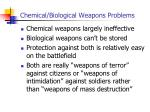 chemical biological weapons problems