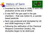history of sarin