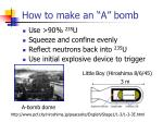 how to make an a bomb