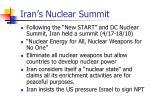 iran s nuclear summit