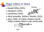 major killers in wars