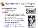 physical effects of nuclear weapons1