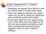 what happened in japan