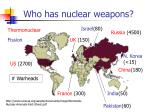 who has nuclear weapons