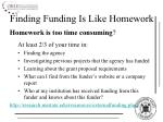 finding funding is like homework