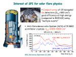 interest of spi for solar flare physics
