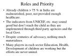 roles and priority