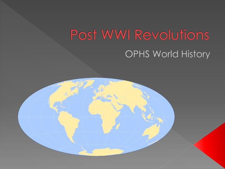 post wwi revolutions n.