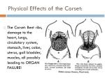 physical effects of the corset
