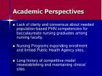 academic perspectives