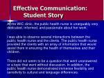 effective communication student story