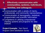 effectively communicates with communities systems individuals families and colleagues