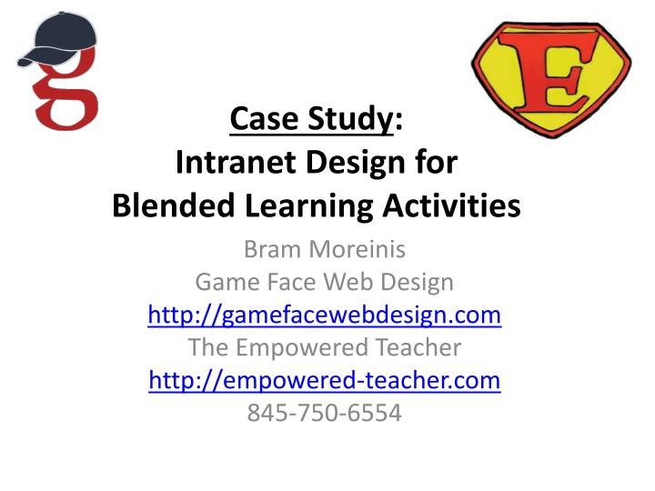 case study intranet design for blended learning activities n.