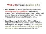 web 2 0 implies learning 2 0