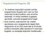angajamentul bugetar ii