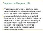 angajamentul bugetar iii