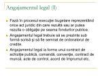 angajamentul legal i