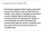 angajamentul legal iii