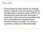 plata iii