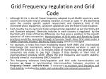 grid frequency regulation and grid code