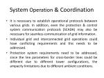 system operation coordination