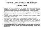 thermal limit constraint of inter connection