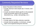 commonly requested revisions