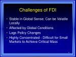 challenges of fdi