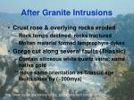 after granite intrusions
