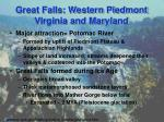 great falls western piedmont virginia and maryland