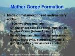 mather gorge formation