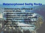 metamorphosed sed ig rocks