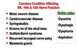 common condition affecting 9th 10th 12th nerve function