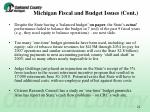 michigan fiscal and budget issues cont1