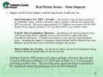 real estate issues state impacts