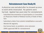 reinstatement case study 1