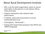 about rural development institute