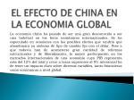 el efecto de china en la economia global