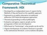 comparative theoretical framework hdi
