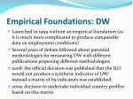 empirical foundations dw