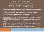 project funding