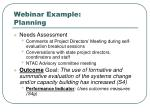 webinar example planning