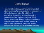 detoxifikace
