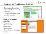 contents for teaching and studying