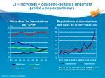 le recyclage des p tro dollars a largement profit nos exportateurs