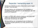 reparatie herkansing week 10