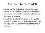 aims and objectives wp d