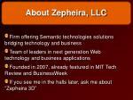 about zepheira llc