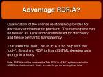 advantage rdf a